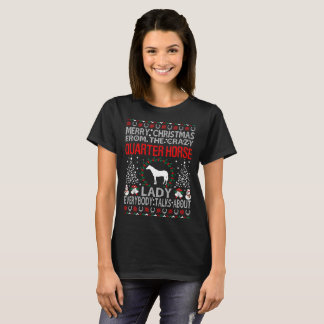 Merry Christmas Quarter Horse Lady Ugly Sweater