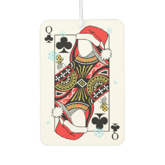 Merry Christmas Queen of Clubs - Add Your Images Air Freshener