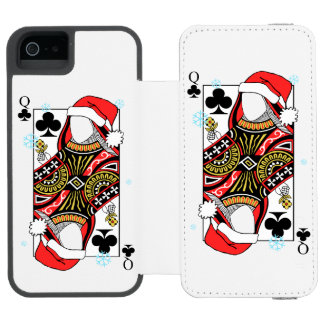 Merry Christmas Queen of Clubs - Add Your Images Incipio Watson™ iPhone 5 Wallet Case