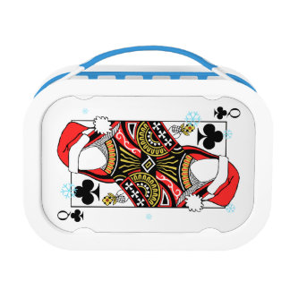 Merry Christmas Queen of Clubs - Add Your Images Lunch Box