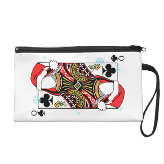 Merry Christmas Queen of Clubs - Add Your Images Wristlet