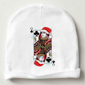 Merry Christmas Queen of Clubs Baby Beanie