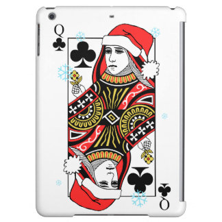 Merry Christmas Queen of Clubs Cover For iPad Air