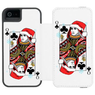 Merry Christmas Queen of Clubs Incipio Watson™ iPhone 5 Wallet Case