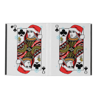 Merry Christmas Queen of Clubs iPad Case