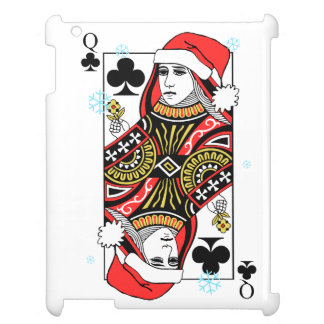 Merry Christmas Queen of Clubs iPad Cover