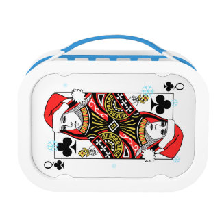 Merry Christmas Queen of Clubs Lunch Box