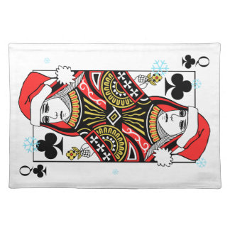 Merry Christmas Queen of Clubs Placemat