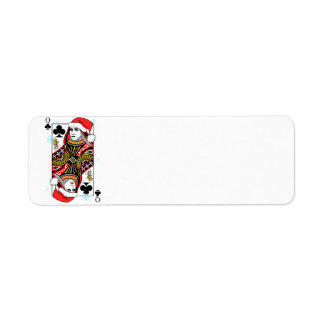 Merry Christmas Queen of Clubs Return Address Label