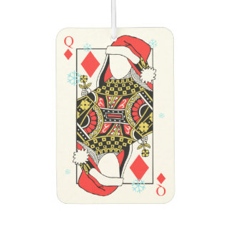 Merry Christmas Queen of Diamonds-Add Your Images Car Air Freshener