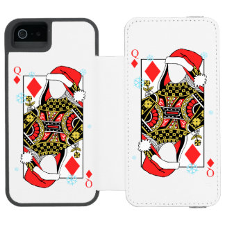 Merry Christmas Queen of Diamonds-Add Your Images Incipio Watson™ iPhone 5 Wallet Case