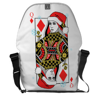 Merry Christmas Queen of Diamonds Courier Bag