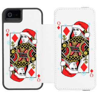 Merry Christmas Queen of Diamonds Incipio Watson™ iPhone 5 Wallet Case