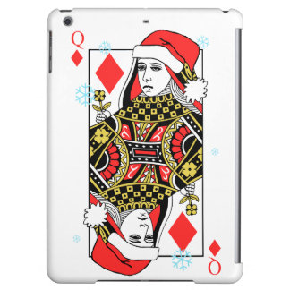 Merry Christmas Queen of Diamonds iPad Air Cover