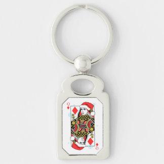 Merry Christmas Queen of Diamonds Keychain