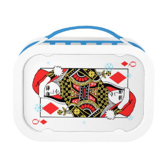 Merry Christmas Queen of Diamonds Lunch Box