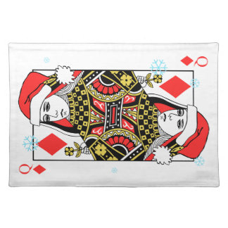 Merry Christmas Queen of Diamonds Placemat