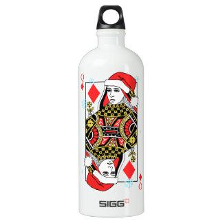 Merry Christmas Queen of Diamonds Water Bottle