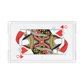 Merry Christmas Queen of Hearts - Add Your Images Acrylic Tray