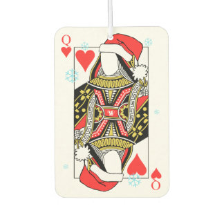 Merry Christmas Queen of Hearts - Add Your Images Car Air Freshener