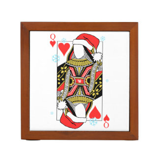 Merry Christmas Queen of Hearts - Add Your Images Desk Organizer