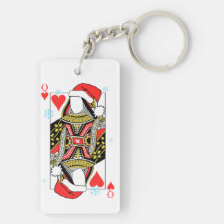 Merry Christmas Queen of Hearts - Add Your Images Keychain