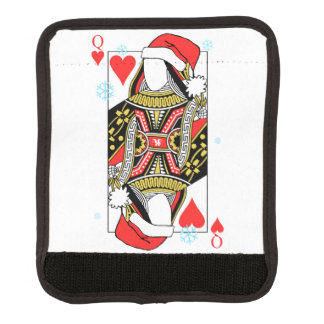 Merry Christmas Queen of Hearts - Add Your Images Luggage Handle Wrap