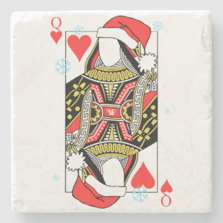 Merry Christmas Queen of Hearts - Add Your Images Stone Coaster