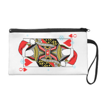 Merry Christmas Queen of Hearts - Add Your Images Wristlet