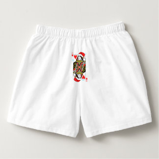 Merry Christmas Queen of Hearts Boxers