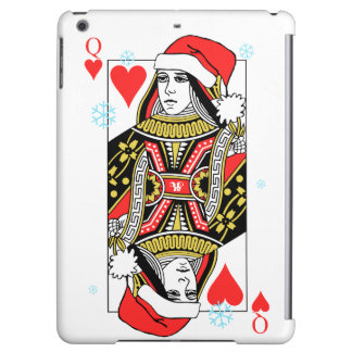 Merry Christmas Queen of Hearts Cover For iPad Air