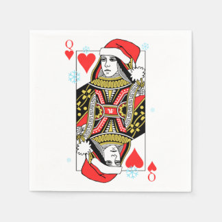 Merry Christmas Queen of Hearts Disposable Napkins