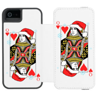 Merry Christmas Queen of Hearts Incipio Watson™ iPhone 5 Wallet Case