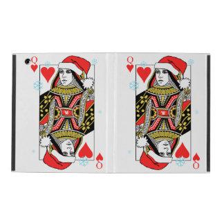 Merry Christmas Queen of Hearts iPad Folio Case