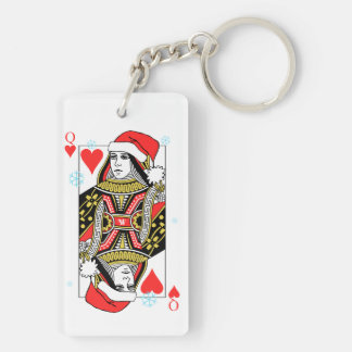 Merry Christmas Queen of Hearts Keychain