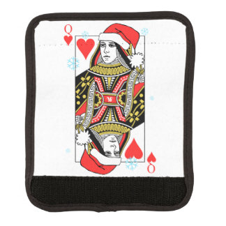 Merry Christmas Queen of Hearts Luggage Handle Wrap