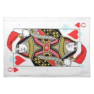 Merry Christmas Queen of Hearts Placemat