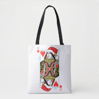 Merry Christmas Queen of Hearts Tote Bag
