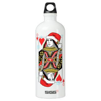 Merry Christmas Queen of Hearts Water Bottle