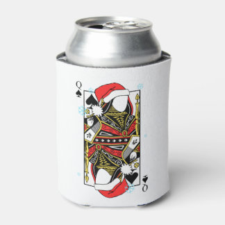 Merry Christmas Queen of Spades - Add Your Images Can Cooler