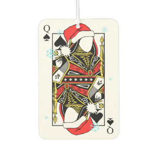 Merry Christmas Queen of Spades - Add Your Images Car Air Freshener