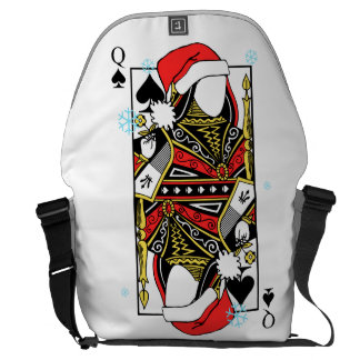 Merry Christmas Queen of Spades - Add Your Images Courier Bags