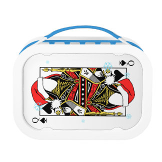 Merry Christmas Queen of Spades - Add Your Images Lunch Box