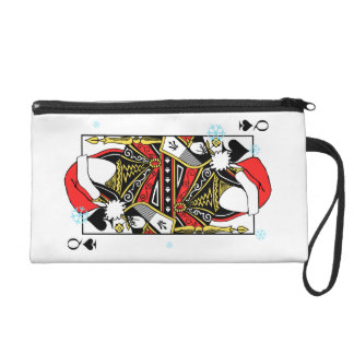 Merry Christmas Queen of Spades - Add Your Images Wristlet