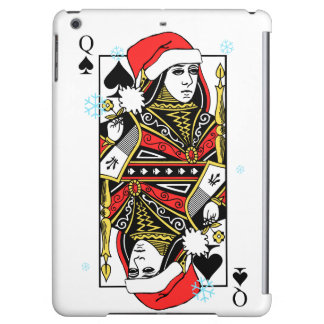 Merry Christmas Queen of Spades Cover For iPad Air