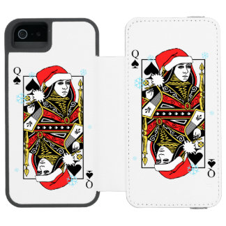 Merry Christmas Queen of Spades Incipio Watson™ iPhone 5 Wallet Case