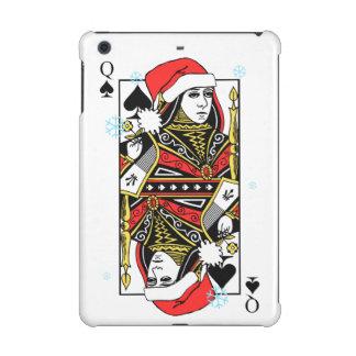 Merry Christmas Queen of Spades iPad Mini Cases
