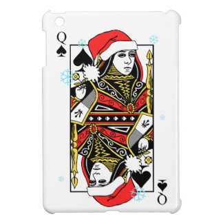 Merry Christmas Queen of Spades iPad Mini Cover
