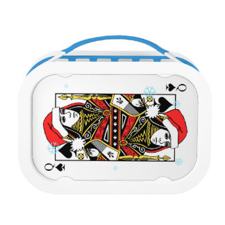 Merry Christmas Queen of Spades Lunch Box