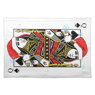 Merry Christmas Queen of Spades Placemat